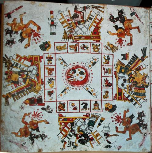 Codex Borgia, détail (photographie).