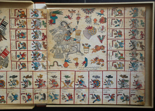 Codex Borbonicus, détail (photographie).