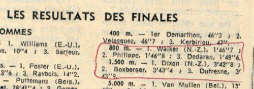 Fig. - 4. Coupure de presse annotée et petit feuillet de notes de la main de Georges Dumézil [Cote DMZ 72. 1. 6. 4 et 5].